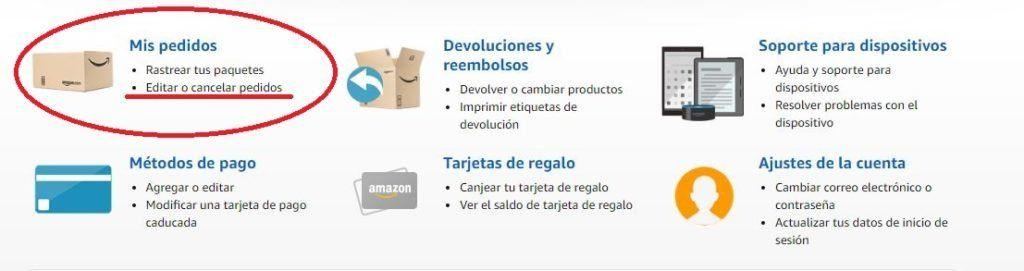 Cómo cancelar un pedido en Amazon desde un dispositivo móvil