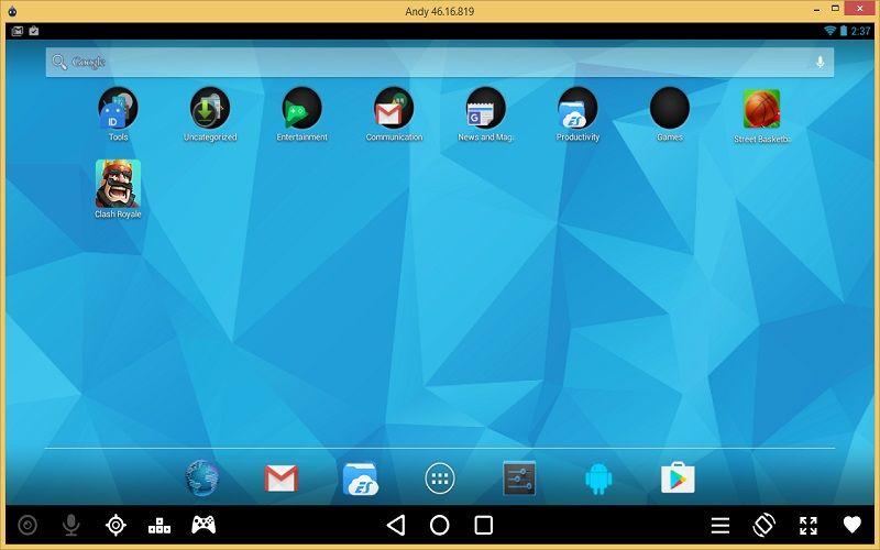 Descargar emulador de Android AndY