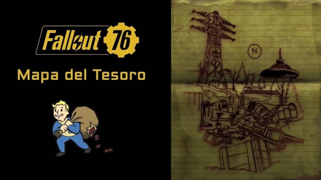 Fallout 76 mapa del tesoro y BONUS TRACK