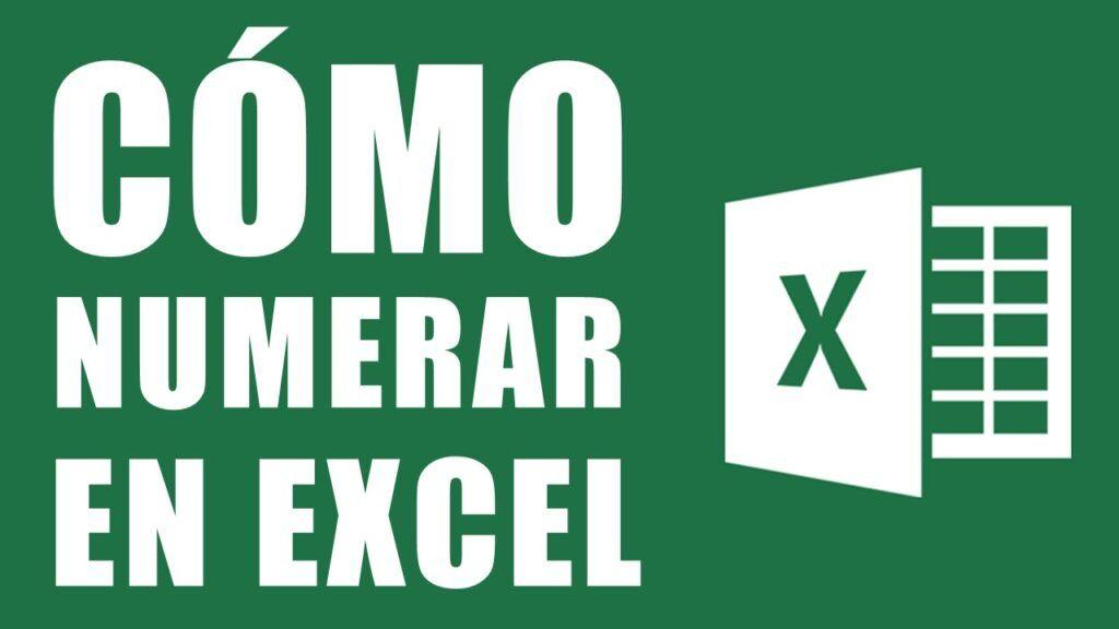 Como numerar en Excel 7 formas rápidas y sencillas de numerar filas en Excel