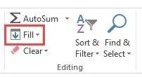 Fill-Series-Option-in-the-editing-group