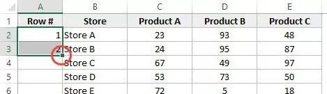 How-to-Number-Rows-in-Excel-Fill-Handle-square