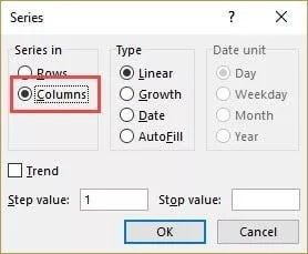Number-rows-in-Excel-selected-columns-in-Fill-series