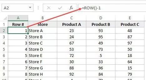 ROW-formula-to-enter-row-numbers-in-Excel