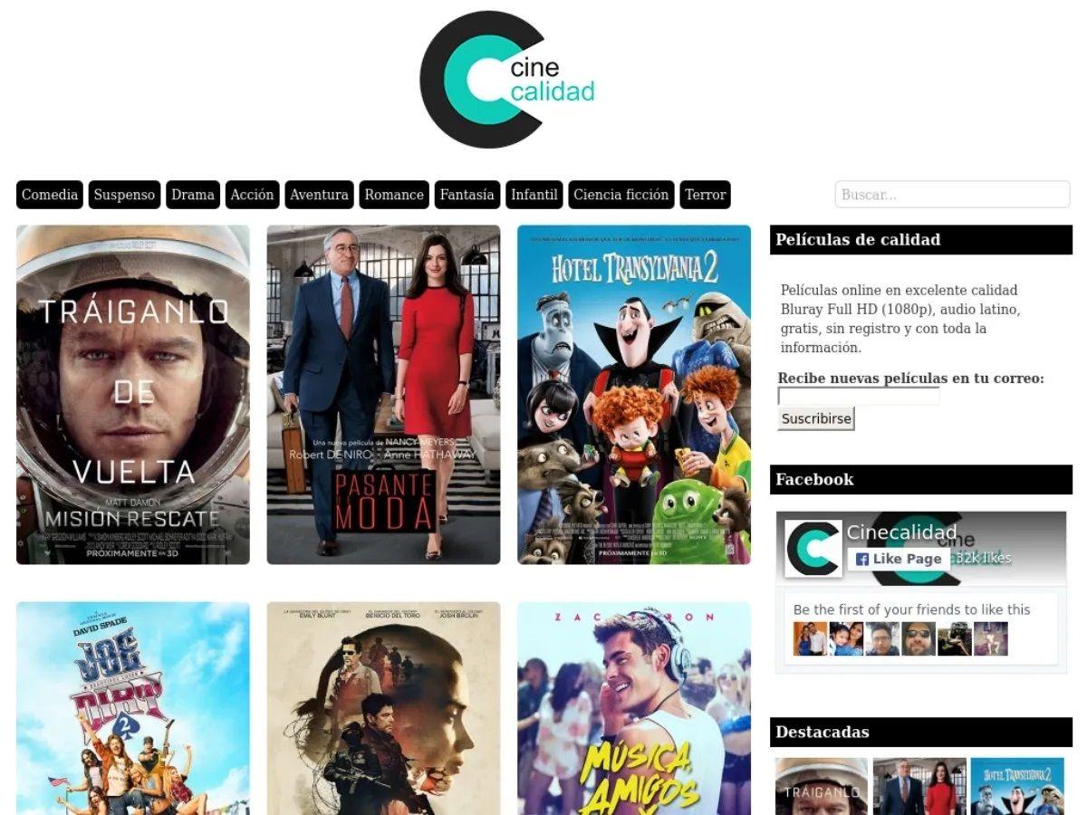 Cinecalidad alternativas Otros sitios para ver películas online